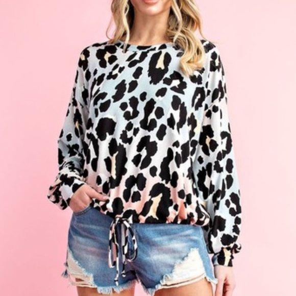 ee:some Tops - Animal Print Long sleeve top